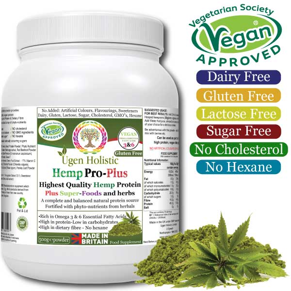 Hemp Pro - Plus (rich in omega 3 & 6 Essential Fatty Acids)